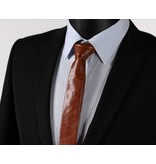 English Fashion Leather Skinny Tie
