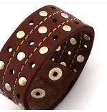 English Fashion Wide Leather bracelet - Man
