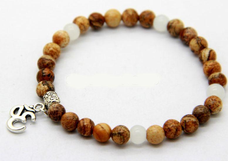English Fashion Yoga Bedel Armband - 6mm brede beads