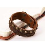 English Fashion Lederen Armband Man