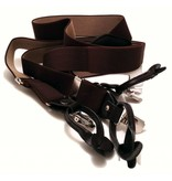 English Fashion Suspenders Brown with clips or buttons