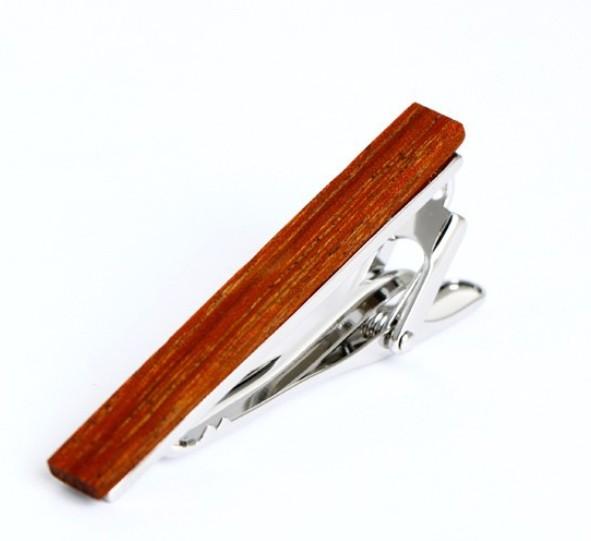 English Fashion Tie Clip Wood