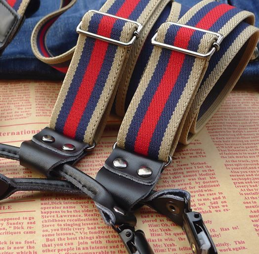 English Fashion Striped Suspender 3-colors