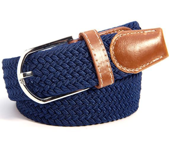 English Fashion Canvas Belt Blue