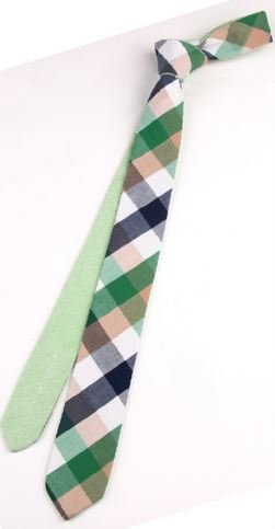 English Fashion Fresh Green Tie Cotton