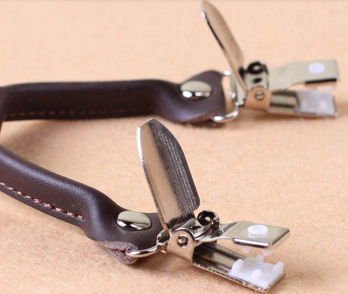 English Fashion Brown Suspenders with Leather
