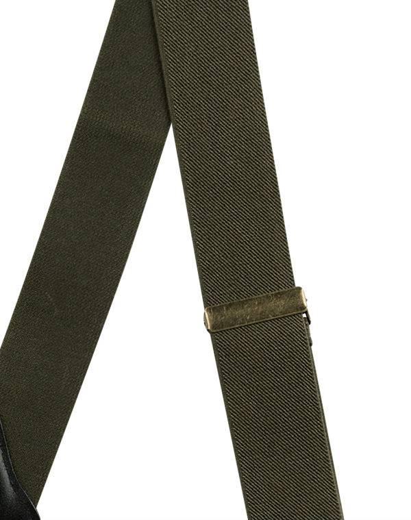 English Fashion Hardy Braces Army Green