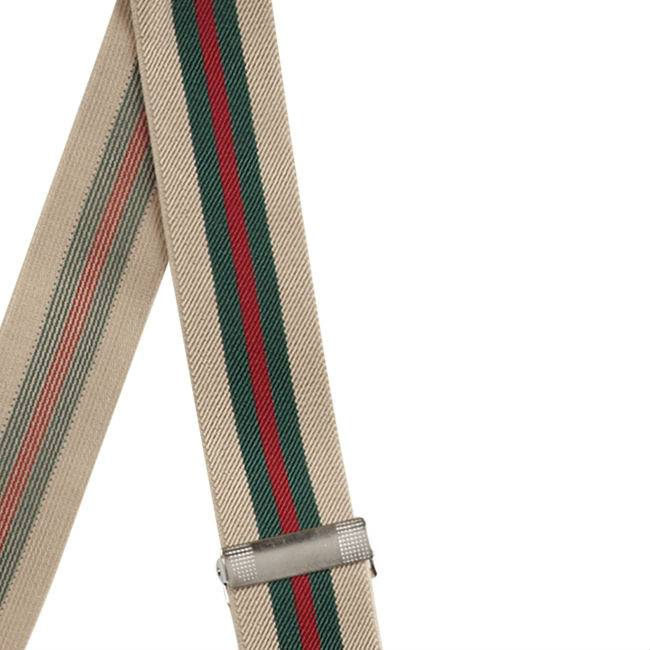 English Fashion Elastic Suspenders Striped 6-clips