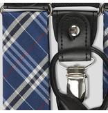 English Fashion Zijden Bretels blauw geruit