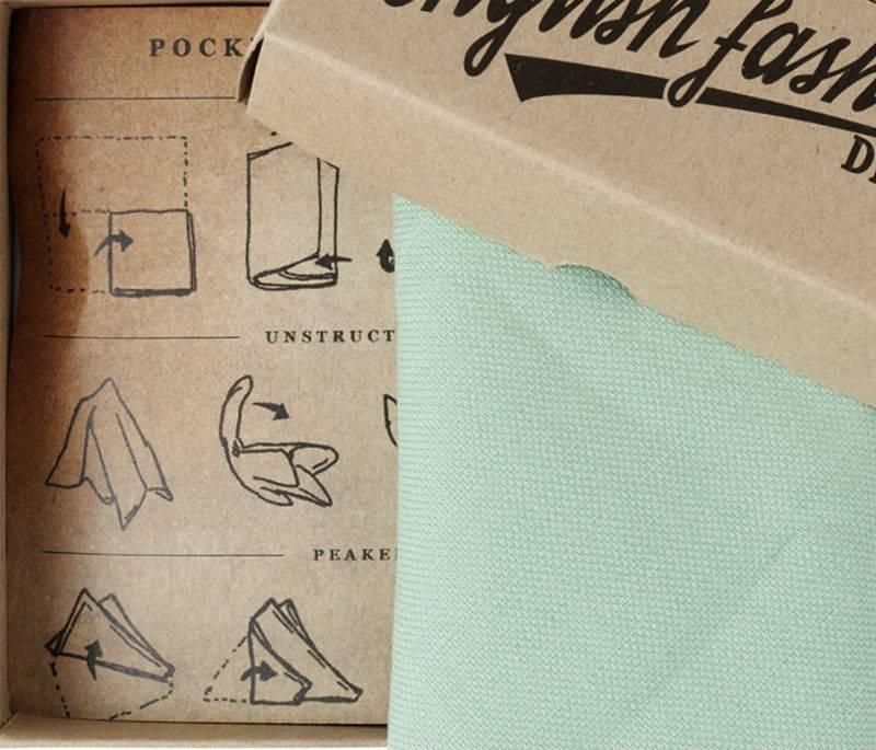 English Fashion Wool Pocket Square Pastel Green