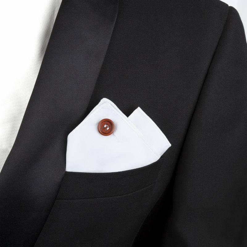 English Fashion Pochet Wit van 100% Katoen