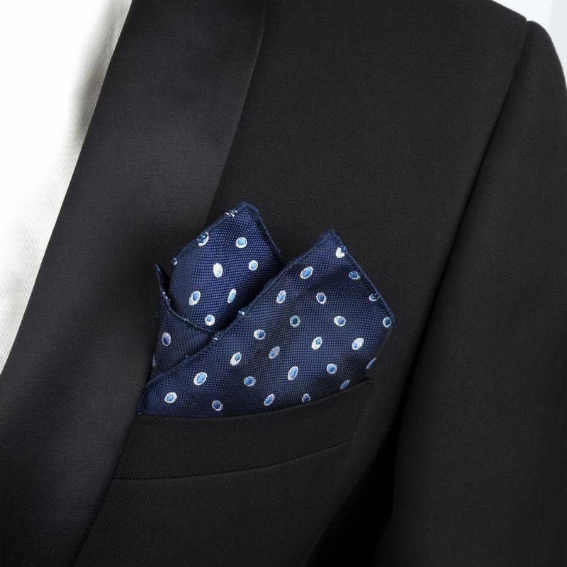 English Fashion Pochet Blauw met dots