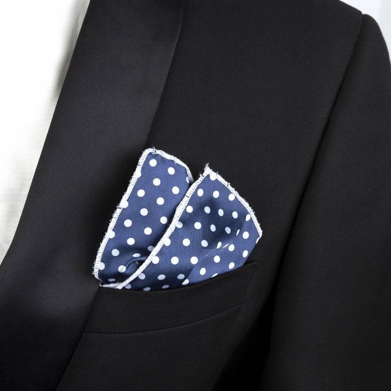 English Fashion Pochet Polkadot Blauw