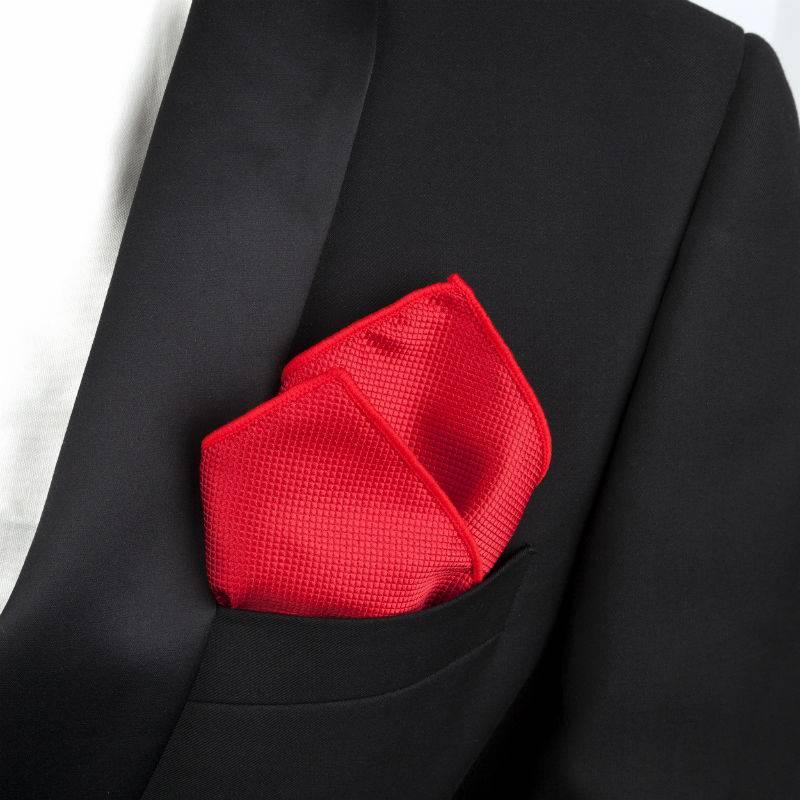 English Fashion Pochet Donker Rood - Satijn