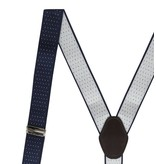 English Fashion Suspenders black polkadot