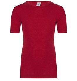 Engel Shirt korte mouw wol/zijde