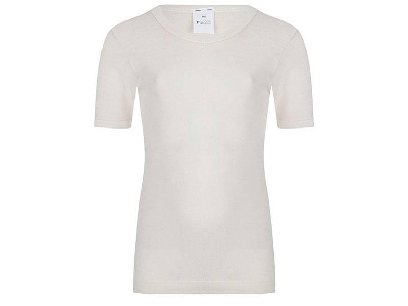 Wol/zijden hemd korte mouw