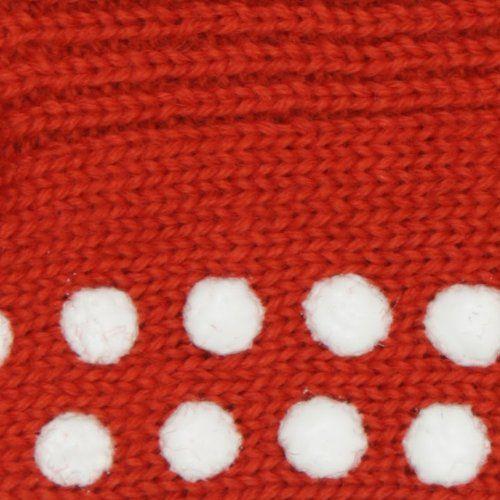 Hirsch Natur Anti slip sokken wol rood