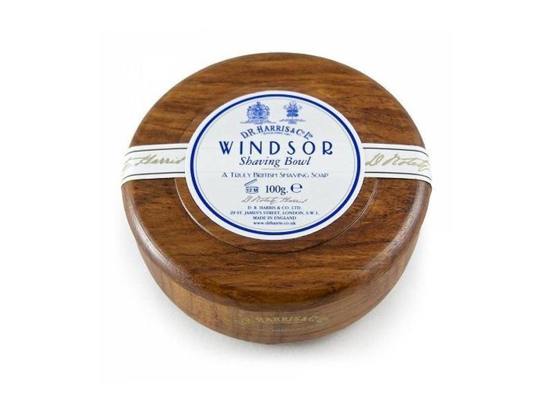 D.R.Harris Windsor scheerzeep in houten kom