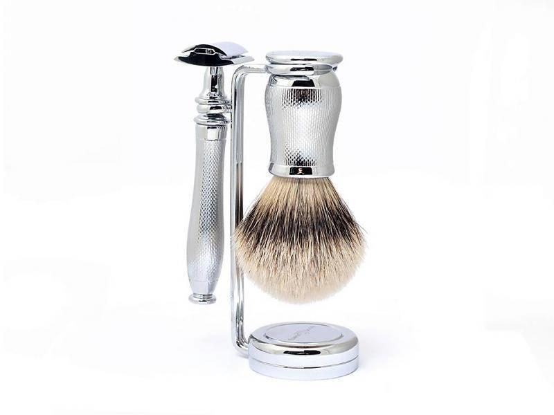 Edwin Jagger Chatsworth Barley Silver Tip 3-delige safety razor set