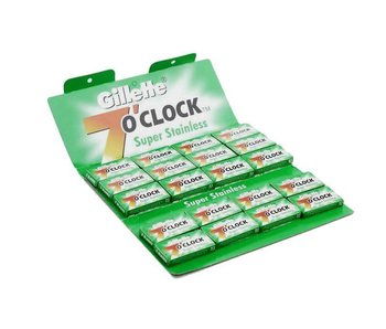Gillette 7 O'Clock safety razor mesjes 100 stuks