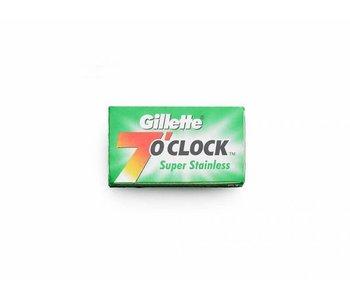 Gillette 7 O'Clock safety razor mesjes doosje met 5 stuks