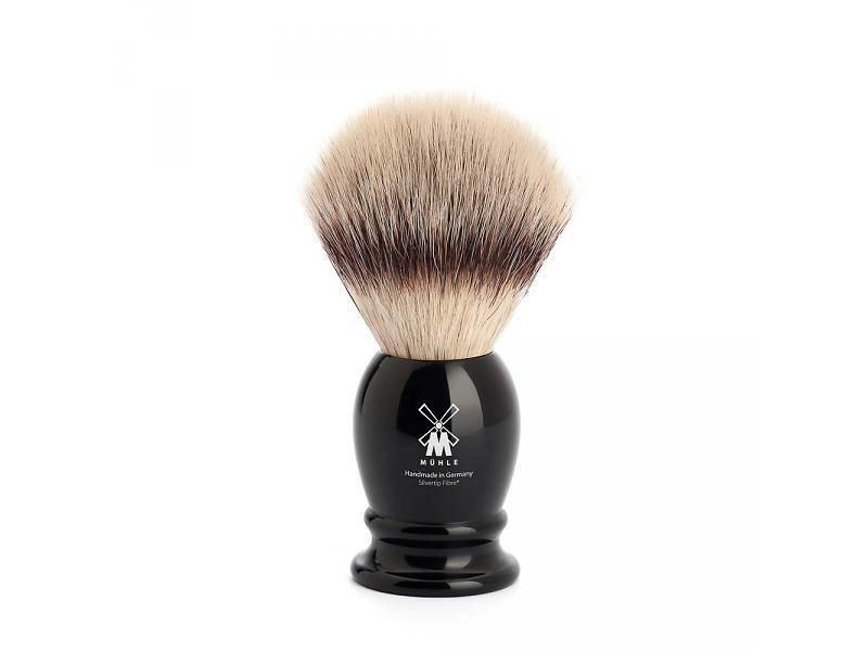 Muhle silvertip fibrescheerkwast M zwart