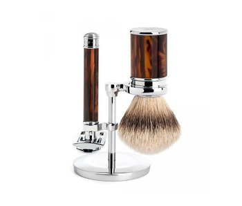 Muhle Traditional scheerset met safety razor in imitatie schildpad