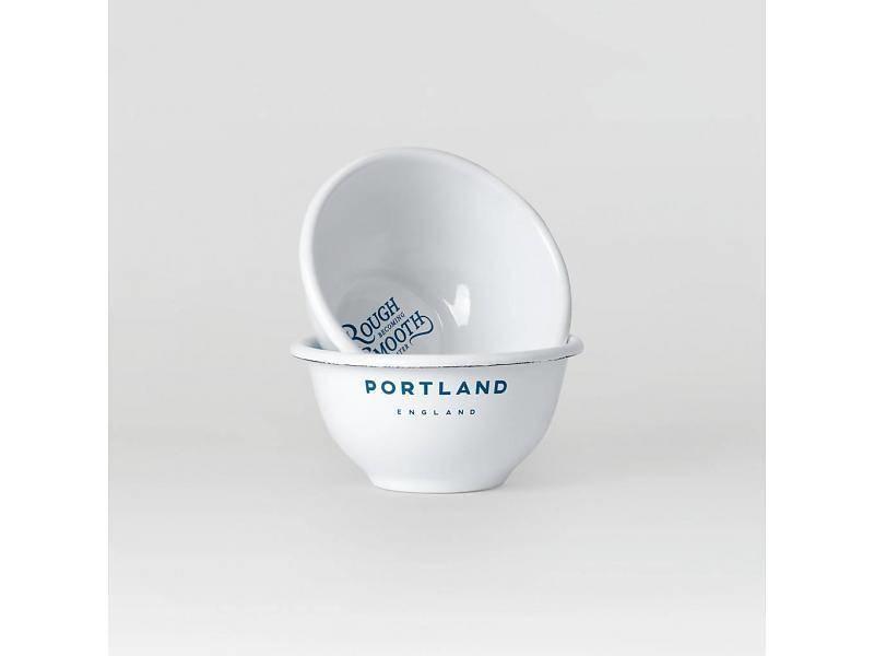 Portland scheerkom in emaille