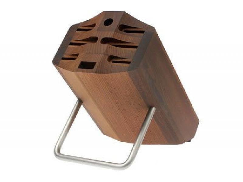 Wusthof Culinar bruin messenblok met beugel voor 8 messen