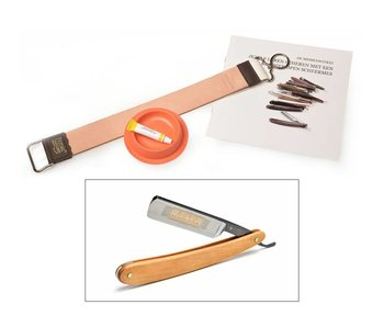 Beginnerspakket open scheermes - pakkawood brown 5/8