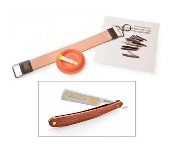 Beginnerspakket open scheermes - redwood 5/8