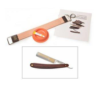 Beginnerspakket open scheermes - violet wood 5/8
