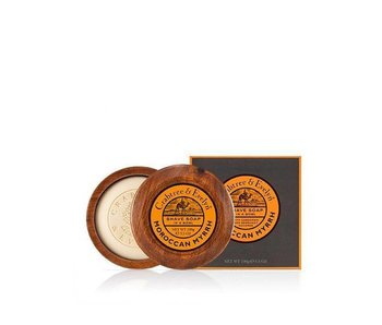 Crabtree & Evelyn Moroccan Myrrh scheerzeep in mooie houten scheerkom