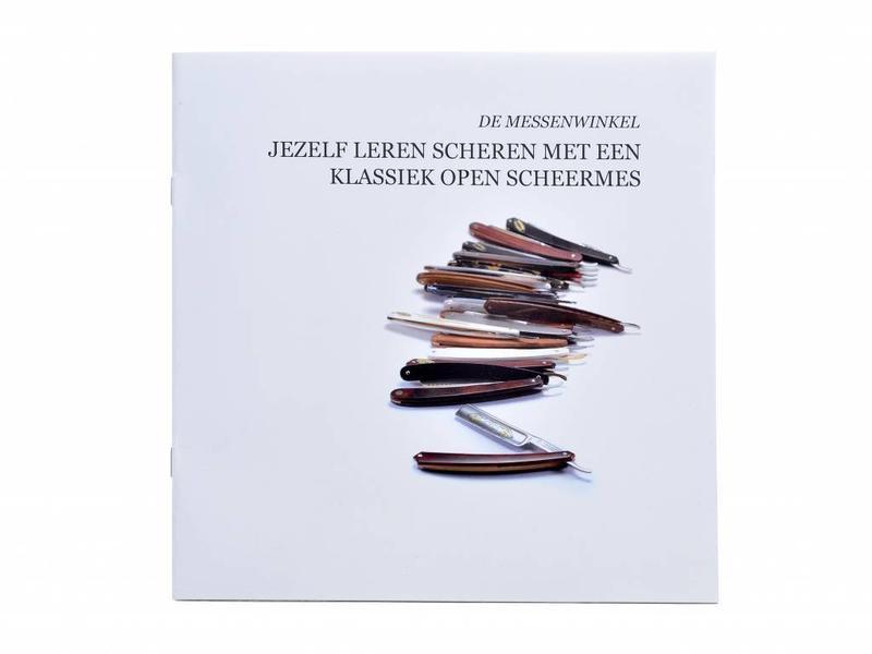 Beginnerspakket open scheermes - ebbenhout zilverstaal 5/8