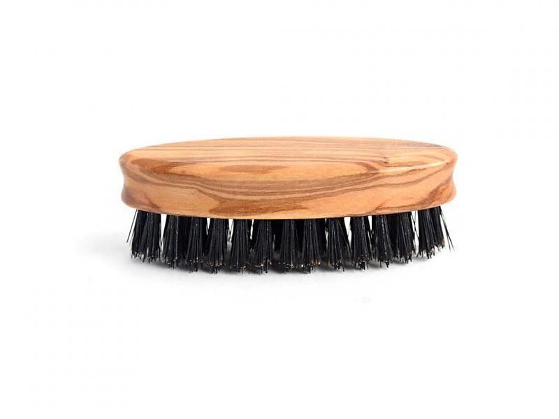 Keller Baardborstel met wild zwijn haren en olijfhouten heft