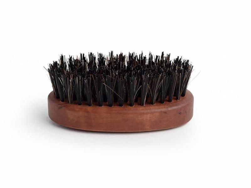 Baardborstel met synthetische en wild zwijn haren