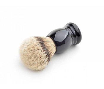 Hans Baier Silvertip scheerkwast - zwart klassiek heft - L