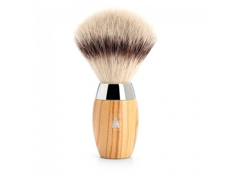 Muhle Kosmo silvertip fibre scheerkwast - olijfhout