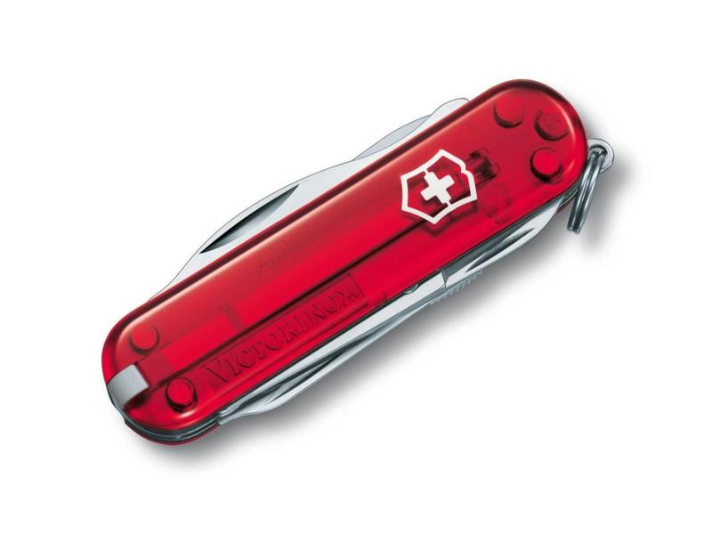 VICTORINOX Manager rood transparant