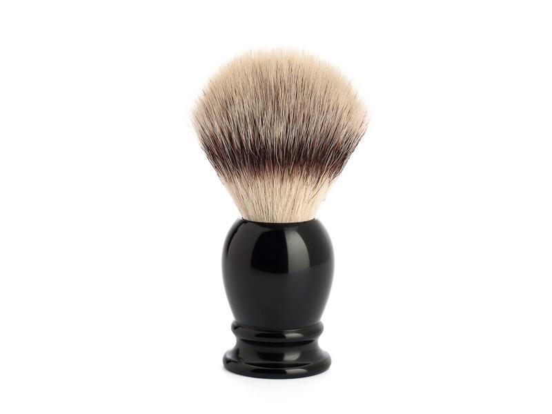 Muhle silvertip fibrescheerkwast L zwart