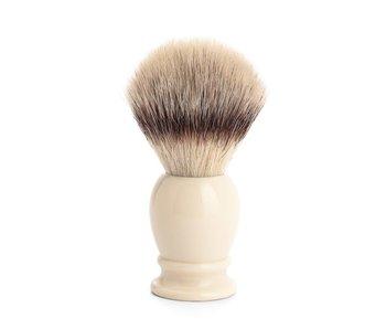Muhle silvertip fibrescheerkwast L wit