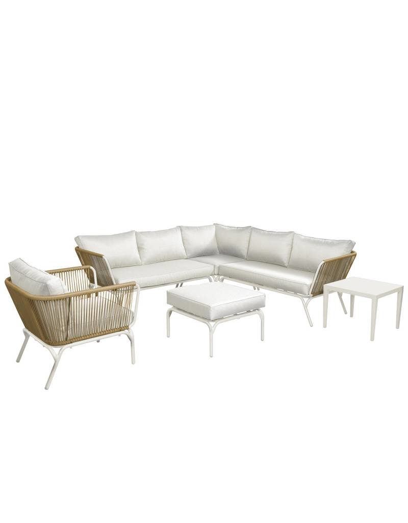 Breeze 4-delige loungeset  wicker