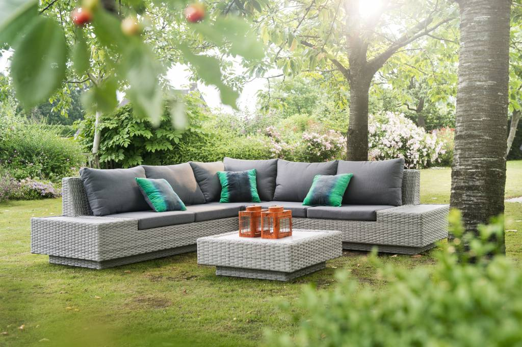 Jepara 4-delige loungeset - wicker