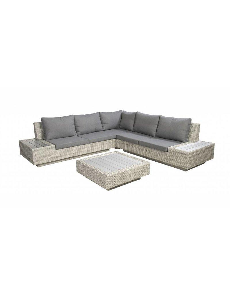Jepara 4-delige loungeset - wicker