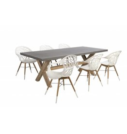 Coral Reef - Ramatuelle 7-delige diningset