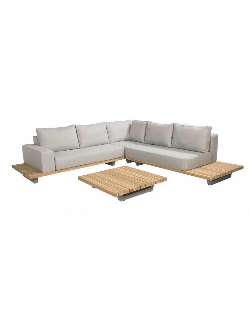 Elite 4-delige loungeset  teak