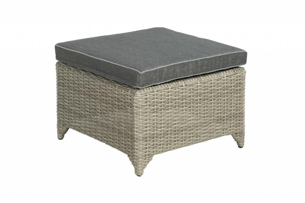 Adelaide footstool 60x60cm - vlechtwerk