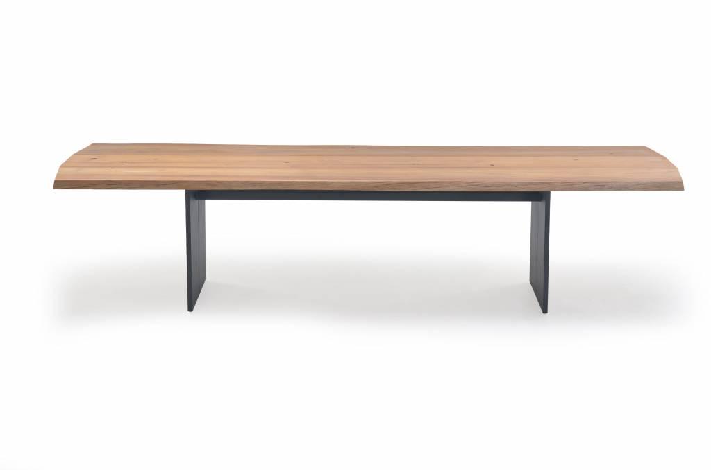 Plank tuintafel 330x110cm, aluminium-teak