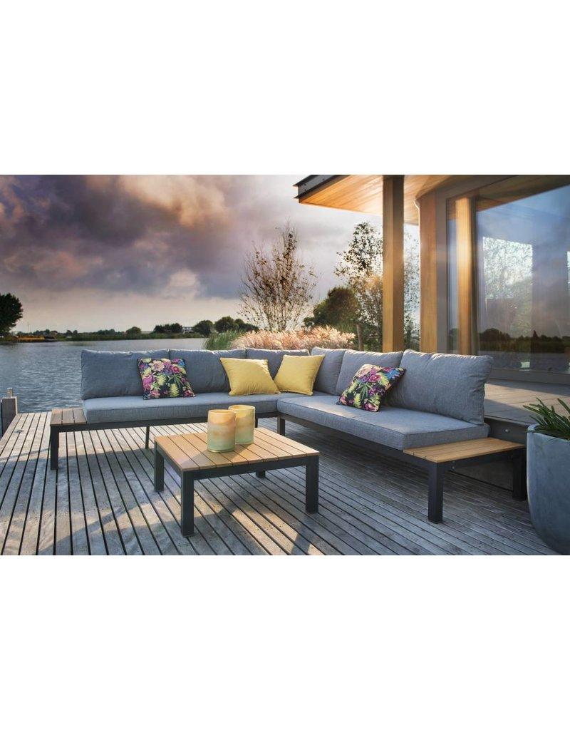 Chicago 3-delige loungeset  teak/aluminium